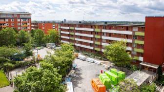 Bilden visar kv. Oslo 6 som är under produktion. Foto: Anders Nilsson