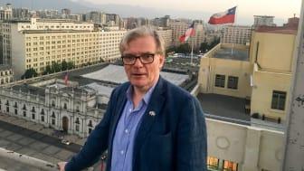 Santiago de Chile är en modern storstad med 6,5 miljoner invånare. Ändå finns det många beröringspunkter med Sverige och Kristianstad, menar Lennart Mårtensson, professor i miljöteknik vid Högskolan Kristianstad.