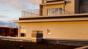 Sedumtak på Roth Fastigheters flerfamiljshus i Hyllie