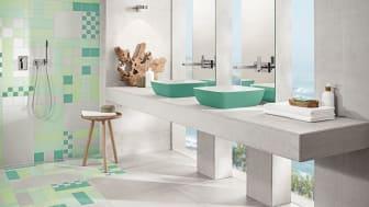 Trendfarbe Neo-Mint:  Frischekick für das Badezimmer