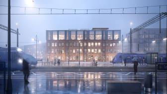 Medborgarhuset sett från Kävlinge station