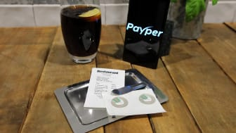 Payper has launched a new restaurant payment method. Using graphene-enhanced receipt paper, the user simply places their phone on t