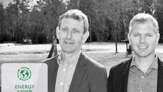 På bilden: Thomas Hedén, fastighetschef på Schenker Property tillsammans med Systeminstallations Bobo Ekelundh.