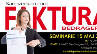 Pressinbjudan till seminariet - Samverkan mot Fakturabedrägerier