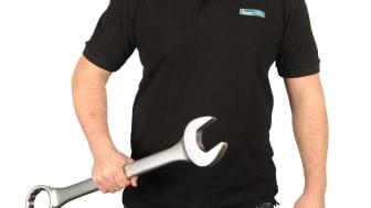 Handverktyg i storlek XL