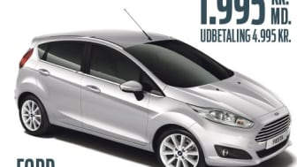 Privatleasing: Ford Fiesta til sensationel lav pris