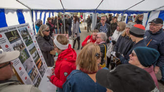 Kulturtältet på LindeDagen 2017 lockade många besökare. Foto: Gunnar Nilsson (Lindesbergs Fotoklubb)