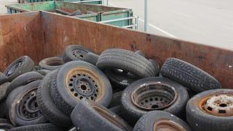 700 ton gamla däck har lämnats in på återvinningscentralerna i Gävle och Sandviken mellan april 2018 och september 2019