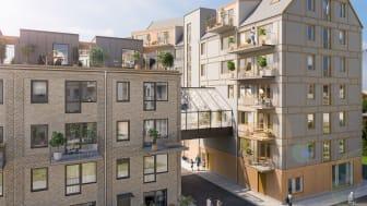 Sälj- och byggstart för 47 lägenheter i Riksbyggens Brf Nära i Hyllie, Malmö