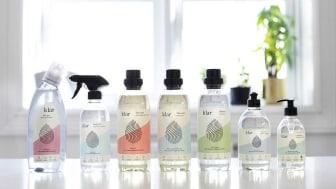 Flaskene i Klar-serien er laget av 100% resirkulert plast.