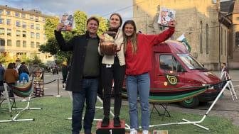 Malin Nilssen vant NM i Slappa 2019. Ove Wikstrøm ble nr. 2 og Rebekka Reilstad nr. 3