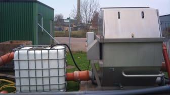 Hydrotechs anläggning som används vid forskningsprojekt på NSVA