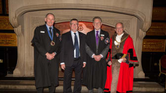 Dr Alan Richardson (second from left) has been sworn-in as a City of Durham Freeman by the Mayor of Durham, Councillor William Kellett (photo credit: Geoff Kitson)