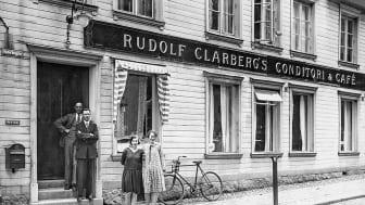 Bild från Clarbergs hörna, nuvarande Ronneby turistinformation, en del av den guidade turen.