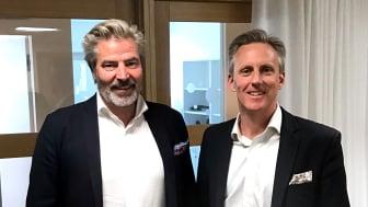 Ulf Wallén, VD Acrinova (t.v.) & Andreas Meyer, VD Skåneporten fastigheter