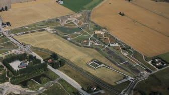 I området mellan Brunnshögsgatan och den till sommaren 2022 invigda Kunskapsparken ska Råängen växa fram. Foto: Perry Nordeng