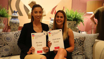 Gold for Marketing students Alice Oliver and Victoria Buxton