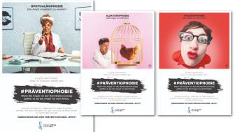 Die Werbekampagne #Präventiophobie mit neuen Motiven 2021