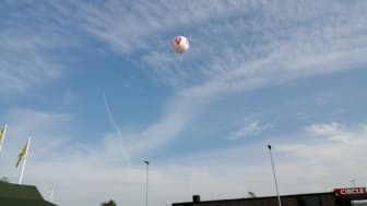 Luftballon ved Exxit 59