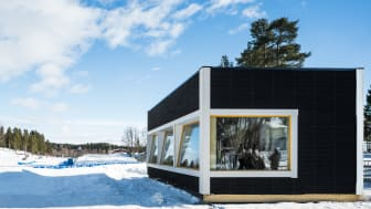 SM-veckans tv-studio i KL-trä på Vitberget.  Foto: Jonas Westling