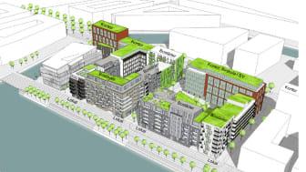 Markförsäljning ger fler bostäder och arbetsplatser på Universitetsholmen