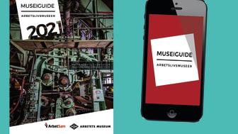 Museiguide 2021 finns både i pappersform och som app.