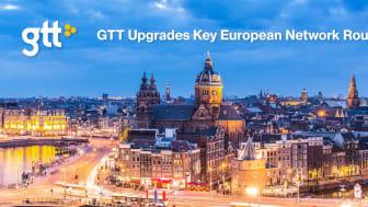 GTT genomför viktiga nätverksuppgraderingar i Europa för att möta den växande efterfrågan