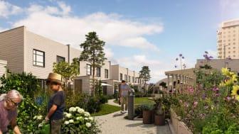 Säljstart för Riksbyggens smarta radhus i kv Spårvagnshallarna, Helsingborg