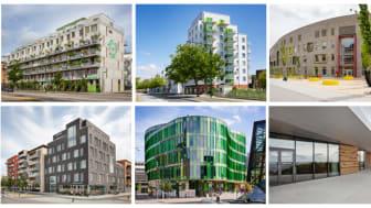 Sex finalister är nominerade till Stadsbyggnadspriset och Gröna Lansen 2018. Foto: Bojana Lukac