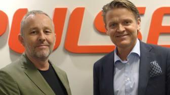 Thomas Lantz, Styrelseordförande Make IT och Martin Hogmalm, VD Pulsen Production.