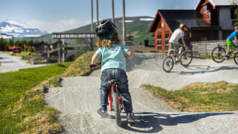 Fredagsmys och cykeldisco i Ramundbergets cykelpark
