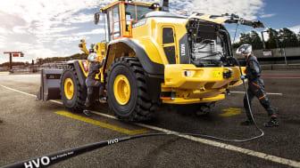 Volvo L260H och L150H finns att provköra under finaldagen av Rally Sweden den 18 februari.