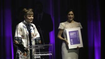 Filminstruktør Annika Berg modtog Kronprinsparrets Kulturelle Stjernedryspris 2018.