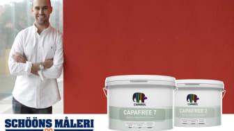 Schööns Måleri väljer konserveringsmedelsfri färg från Caparol färg