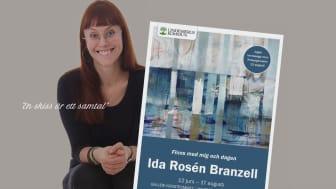 Konst av Ida Rosén Branzell visas på Lindesbergs Stadsbibliotek i sommar.