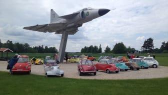MC-bilar är ett av inslagen i hall C på Elmia i Påsk, då MC-Bil Klubben är representerad.
