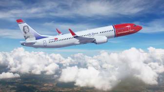 Boeing 737 MAX8 in Norwegian livery