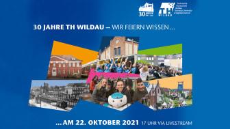 1991 bis 2021 – die TH Wildau feiert am 22. Oktober 2021 ihren 30. Geburtstag und überträgt die Jubiläumsfeier ab 17 Uhr online per Livestream. (Bild: TH Wildau)
