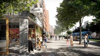 Skärholmsvägen omvandlas från trafikled till levande stadsgata.