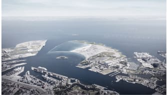 The new island will be established east of the city and in 2070 have a size of 275 acres.