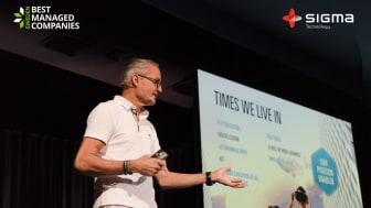 Sigma Technology har blivit ett av Sveriges Best Managed Companies för andra år i rad. Carl Vikingsson, Presiden och VD på Sigma Technology Group