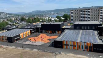 GeoTermos i Drammen kommune lagrer sommervarme til vinterbruk. Nå er prosjektet nominert til Byggenæringens Innovasjonspris 2021