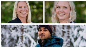 New at QureTech Bio: Annica Rönnbäck, Mari Bonde and Souvik Sarkar.