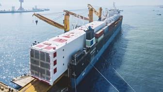 """Det er en stor opgave at transportere den såkaldte """"Cold Box"""" til en gasfabrik."""