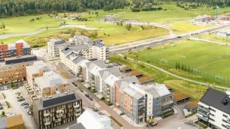 Det är bara ett fåtal, inflyttningsklara, lägenheter kvar i Bonum Brf Pepparmyntan som ligger strax söder om Örebros citykärna.