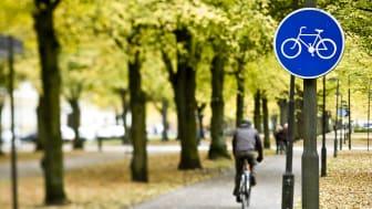 Ny cykelväg mellan Korsbrinken