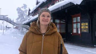 Katarina Johansson, kontorschef på NEX Travel i Gällivare
