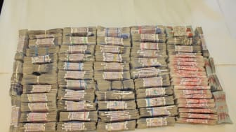 A bundle of cash seized by HMRC