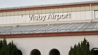 Översiktsbild från Visby Airport.