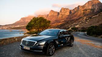 Testkøretøjet i den sydafrikanske udgave af Intelligent World Drive er baseret på S-Klassen